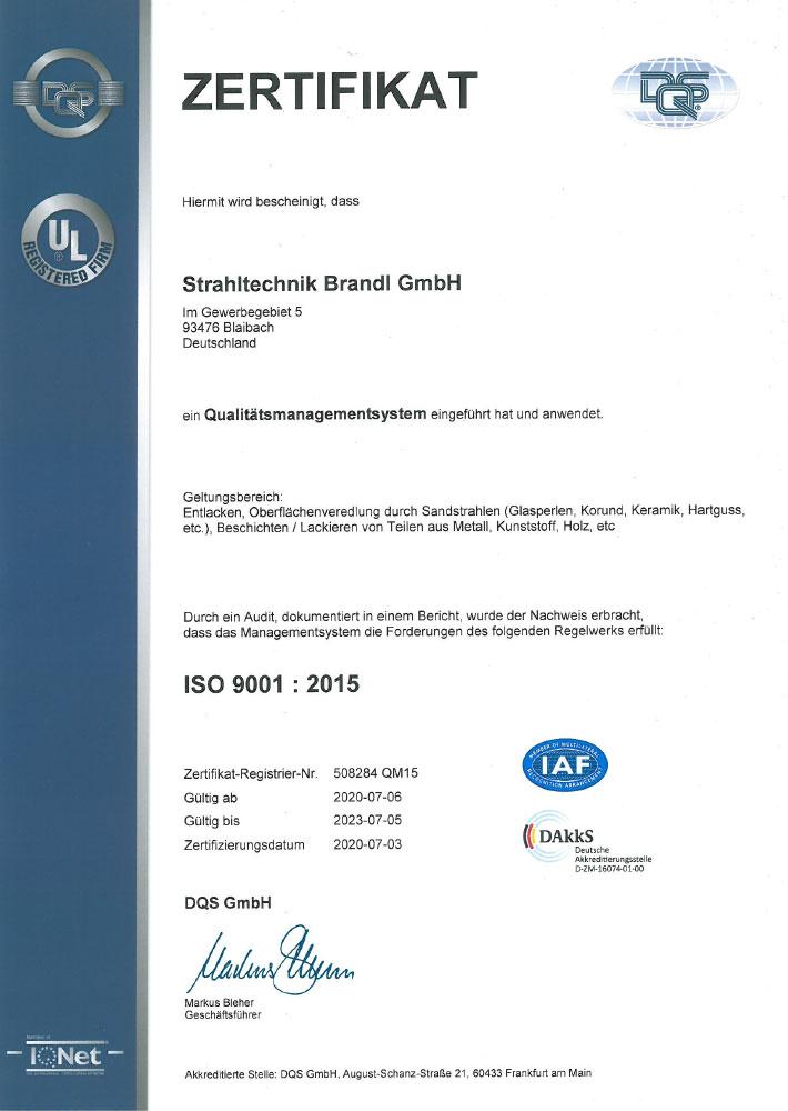 Qualitätsmanagement nach ISO 9001:2015